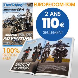 BOXR MAG ABONNEMENT EUROPE 2 ANS